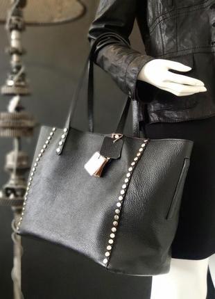 Bata. большая сумка из натуральной кожи.