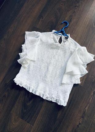 Блузка натуральная ткань zara