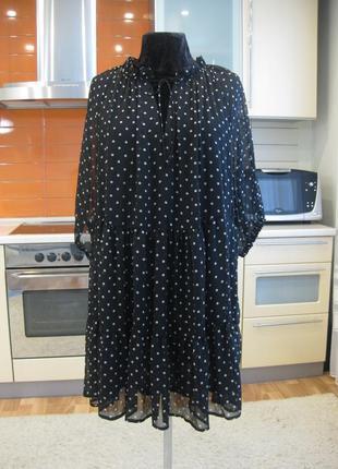 Лёгкое платье  оверсайз в горох h&m !!!