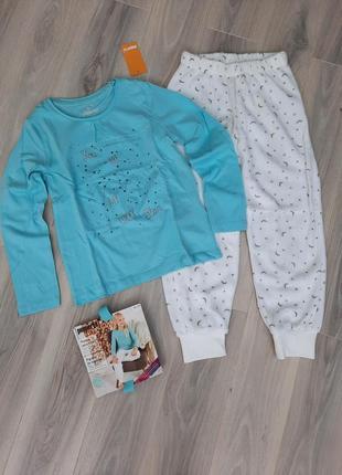 Пижама с флисовыми штанами на манжетах pepperts 122/128, 134/140, 146/152 см