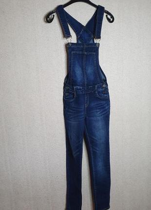 Комбинезон джинсовый женский костюм комбінезон джинсовий джинси