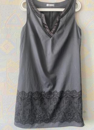 Стальное платье с пайетками хлопок