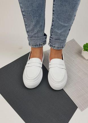 Лоферы туфли балетки натуральная кожа ручная работа