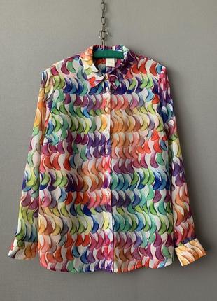 Mona яркая шифоновая блузка винтаж.