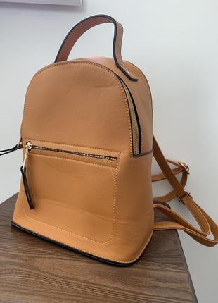 Яркий горчичный рюкзак