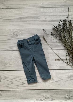 Синие джинсы, джинсы на мальчика, 74-80 рост,9-12 мес