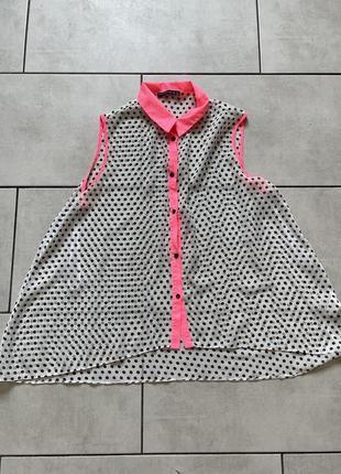Легкая блуза в горошек ассиметричная atmosphere !