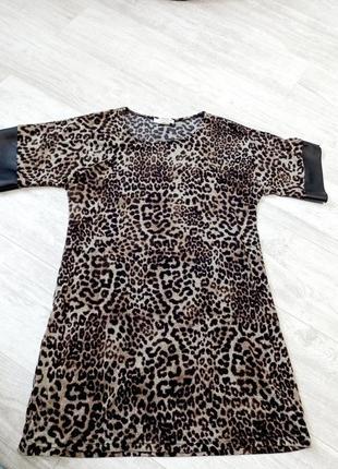 Платье туника тигровый принт франция jus d'orange