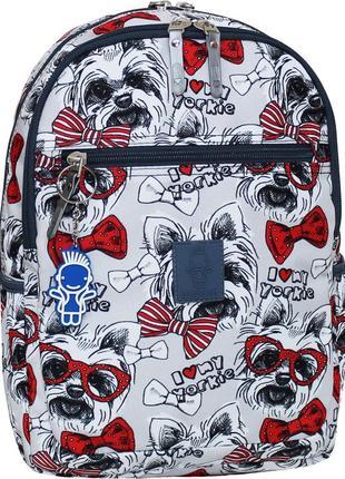 Рюкзак женский молодежный с собачками bagland young 13 л.