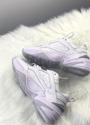 Nike m2k tekno triple white кроссовки найк женские техно м2к