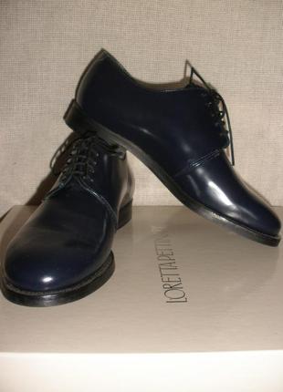 Натуральной кожи закрытые туфли броги cos классика демисезон