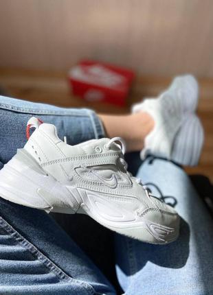 Кроссовки найк женские техно м2к обувь nike m2k tekno triple white