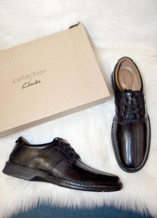 Кожаные оксфорды туфли clarks touareg 46 размер доставка
