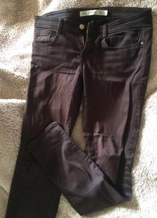 Коричневые джинсы zara зара  штаны