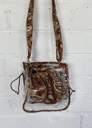 Прозрачная интересная сумка, сумочка