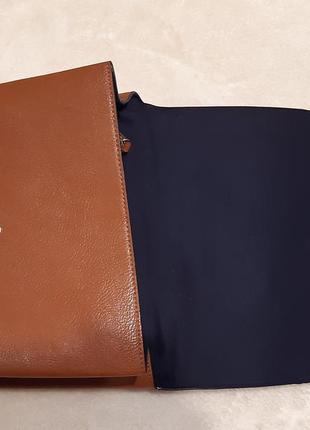 Актуальная стильная коричневая наплечная сумка через плечо кросс боди next5 фото