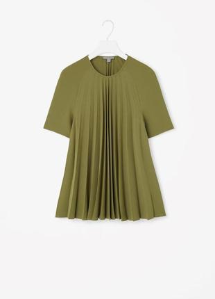 Женская шикарная плиссированная футболка блуза топ cos
