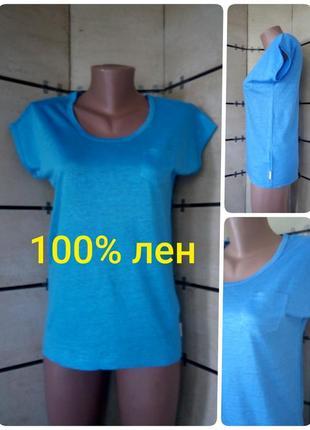 100% лен красивая футболка peak performance
