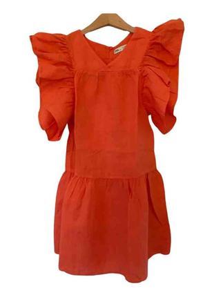 Льняное платье zara 10-11 л