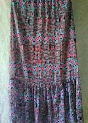 Красивая легкая ярусная юбка love squared. на подкладке.