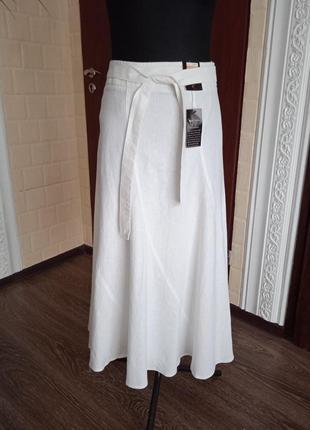 Льняная вискозная юбка под пояс bhs.