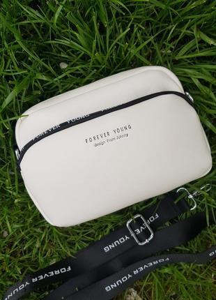 Стильная спортивная сумка кроссбоди с текстильным ремешком
