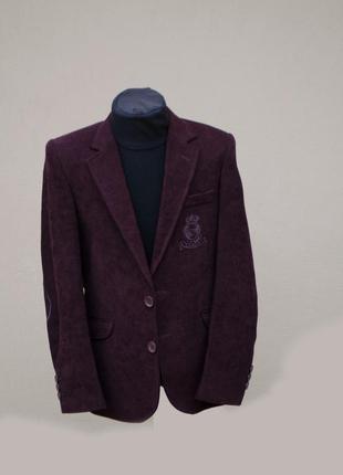 Трендовий піджак на гудзику темно бордового кольору хлопчику