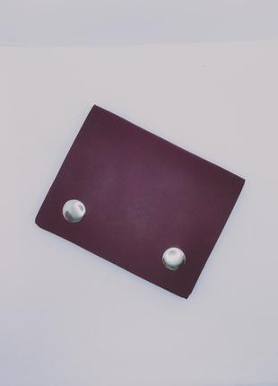 Кожаный мини кошелёк ручной работы.