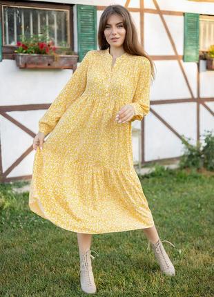 Платье в цветочный принт 3282
