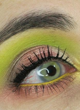 💚💛палетка стойких теней для век beauty glazed pressed powder eyeshadow mint palette (9 color)3 фото