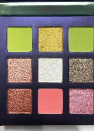 💚💛палетка стойких теней для век beauty glazed pressed powder eyeshadow mint palette (9 color)2 фото
