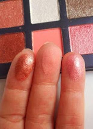 💚💛палетка стойких теней для век beauty glazed pressed powder eyeshadow mint palette (9 color)7 фото