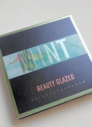 💚💛палетка стойких теней для век beauty glazed pressed powder eyeshadow mint palette (9 color)5 фото