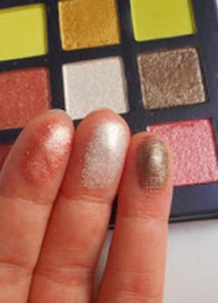 💚💛палетка стойких теней для век beauty glazed pressed powder eyeshadow mint palette (9 color)6 фото