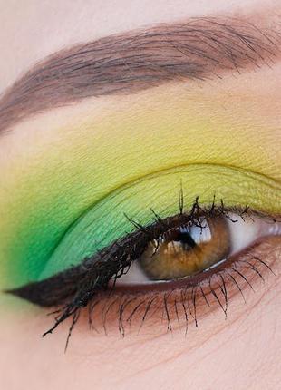 💚💛палетка стойких теней для век beauty glazed pressed powder eyeshadow mint palette (9 color)8 фото