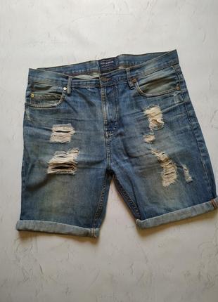 Джинсовые шорты pull & bear tommy hilfiger
