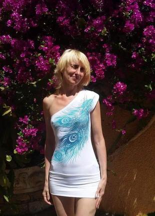 Jane norman стрейчевое мини платье на одно плечо