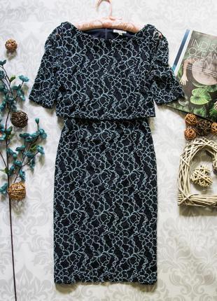 Шикарное очень качественное гипюровое платье coast