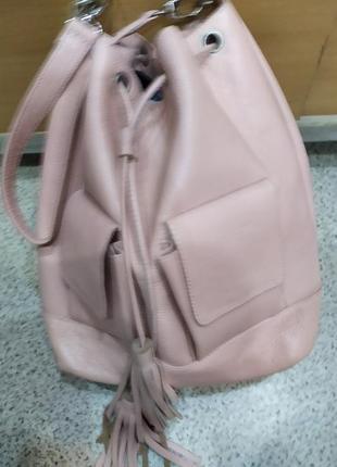 Сумка рюкзак женский кожаный