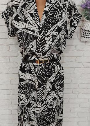 Летнее платье из натураоьной ткани.