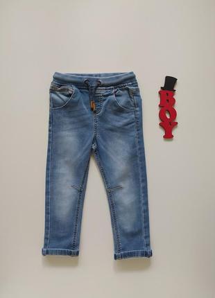 1,5-2 года, джинсы мягкие f&f.