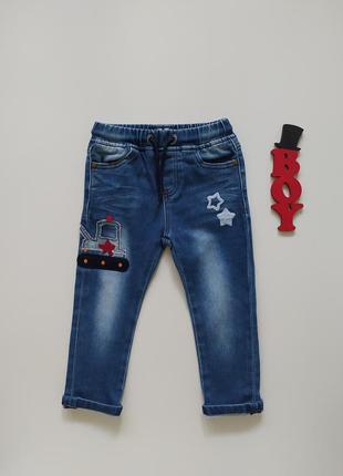 1,5-2 года, мягкие джинсы с аппликацией next.