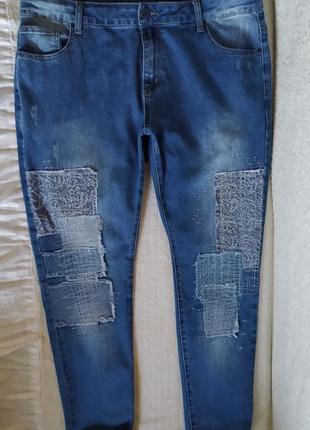 В ідеалі!гарні якісні модні стрейчеві джинси, вказано р.44.