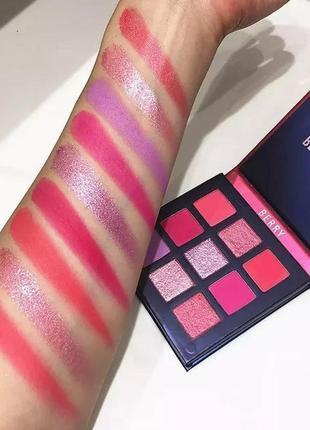 🍓💗 палетка стойких теней для век beauty glazed pressed powder eyeshadow berry palette (9 color)