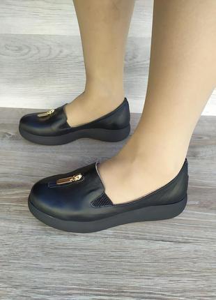Кожаные слипоны , кожаные туфли , 36 37 38 размера, шкіряні туфлі