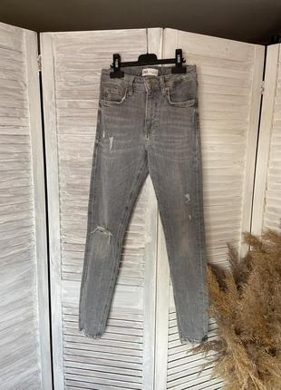 Джинсы зауженные идеальные от zara , брюки, штаны