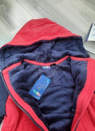 Толстовка на меху, куртка, кофта на молнии lupilu 86/92, 98/104, 110/116 см7 фото