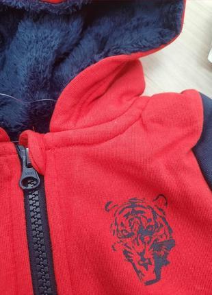 Толстовка на меху, куртка, кофта на молнии lupilu 86/92, 98/104, 110/116 см5 фото