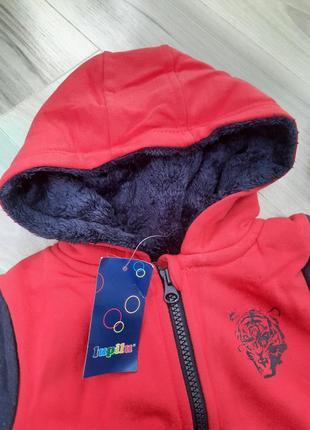 Толстовка на меху, куртка, кофта на молнии lupilu 86/92, 98/104, 110/116 см4 фото