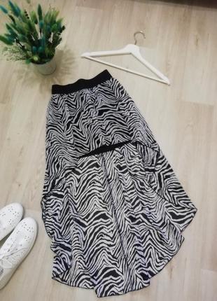 Шифоновая ассиметричная юбка